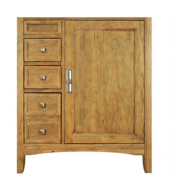 Westport Bay 2240-3000-MBWO 30 inch Single Basin Vanity with Door on Right in Oak Glaze Finish - White, Oval