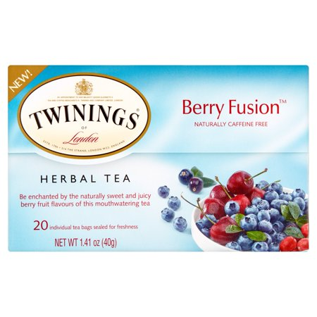 Twinings of London Berry Fusion Herbal Tea, 20 count, 1.41 oz