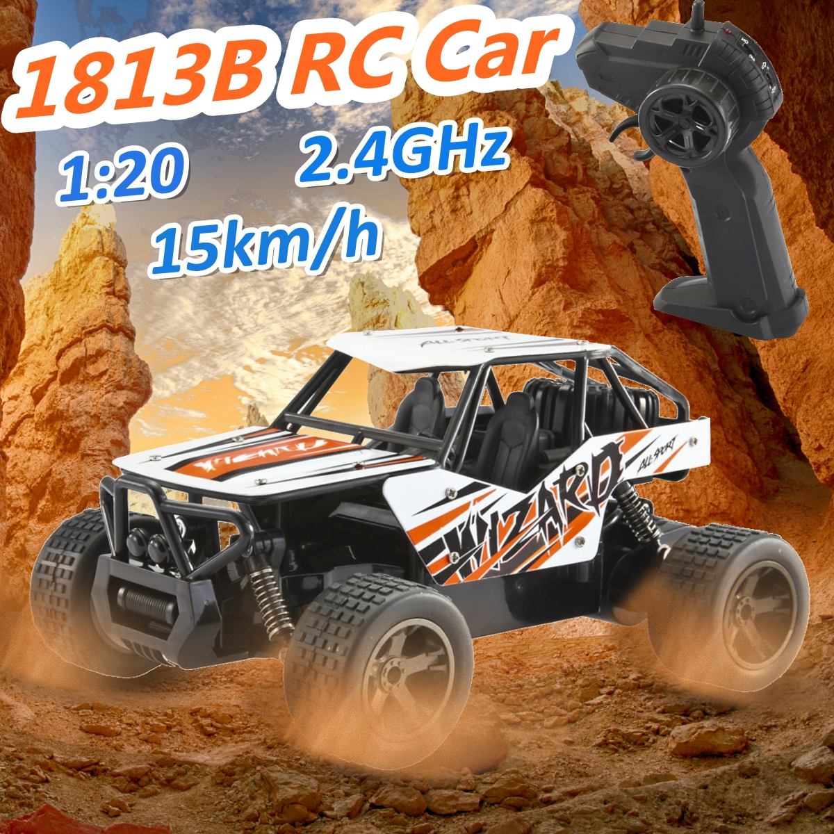 1:20 2.4GHz 4WD High Speed Radio Fast Remote Control RC Car Off-Road Truck RTR Toy For Children Gift, Red