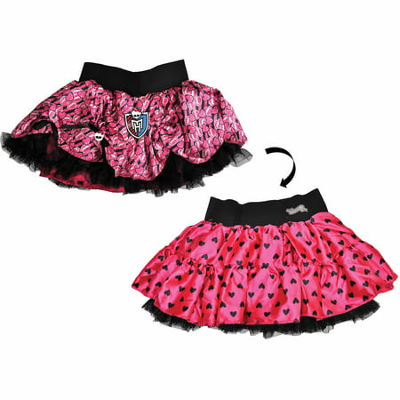 Pink and Black Monster High Pettiskirt Reversible Child Halloween Costume](Christmas Pettiskirt)