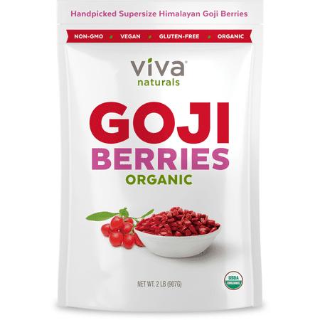 Viva Naturals Organic Goji Berries, 32 Oz