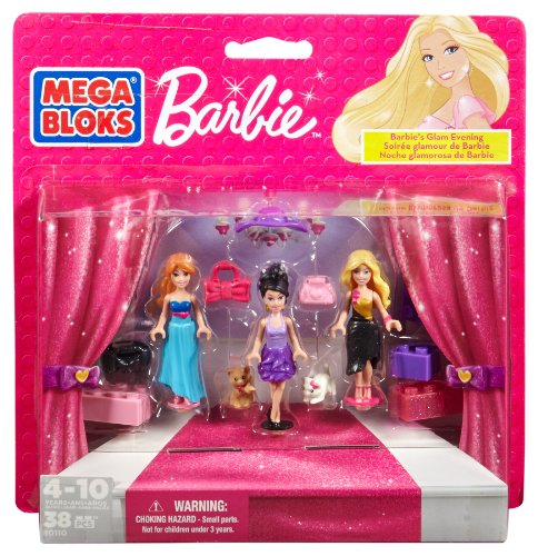 Mega Bloks Barbie's Glam Evening by Mega Brands America - Megabloks