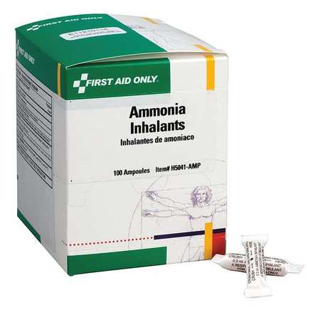 FIRST AID ONLY Ammonia Inhalants,100/Box H5041-AMPGR
