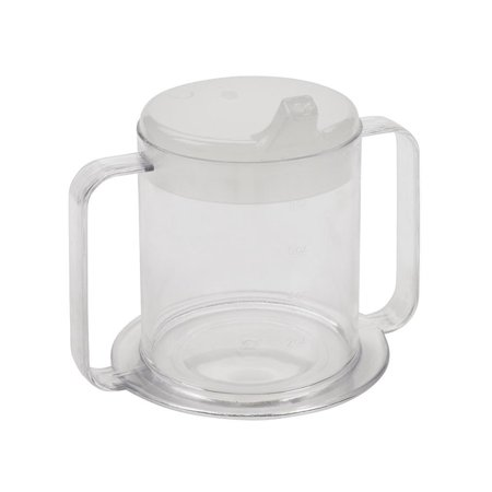 Independence 2-Handle Plastic Mug Units Per Pack 3, 3-Pack of Independence 2-Handle Clear Mugs - Each cup includes 2 style lids. By Providence Spillproof