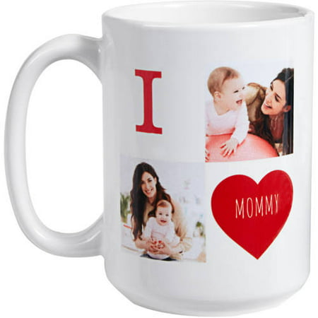 Personalized Filled With Love 15 oz Photo Coffee Mug, Choose from 3 Colors - Personalized Drinkware