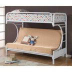 Dhp Silver Screen Twin Over Futon Metal Bunk Bed Silver