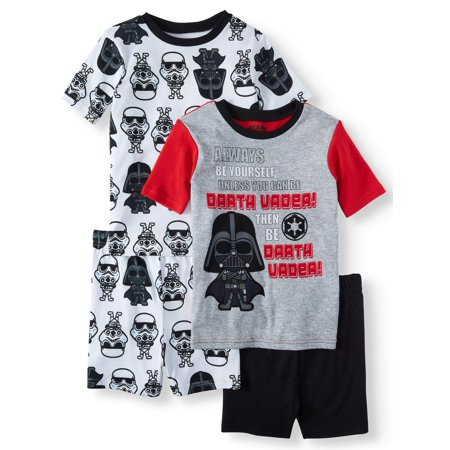 Boys' Star Wars 4 Piece Sleep Set (Little Boy & Big (Sleepy Star)