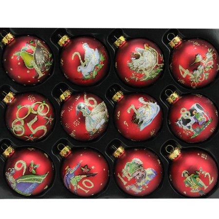 Twelve Days Of Christmas Ornaments.Northlight Seasonal 12 Piece Twelve Days Of Christmas Glass Ball Christmas Ornament Set