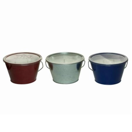 Citronella Bucket - 28 oz Americana Citronella Candle Bucket, Assorted