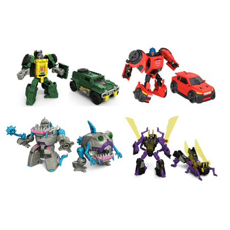 [ Brawn - Gnaw - Kickback - Roadburn ] Titans Return Transformers Generations Legends Class Action Figure (Collector Set of 4) Vehicle Beast 1980s Cartoon Retro Robot Playset Hasbro - Halloween Cartoons 1980s