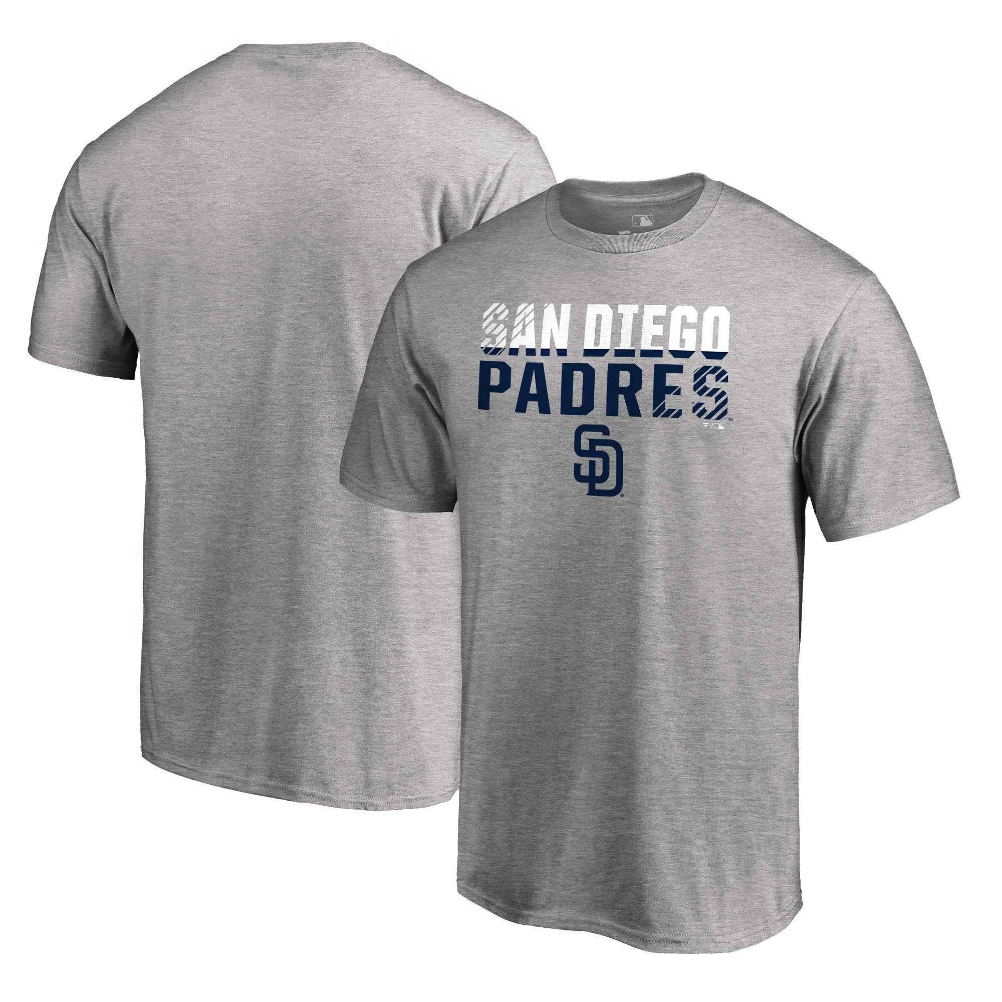 San Diego Padres Fanatics Branded Fade Out T-Shirt - Ash