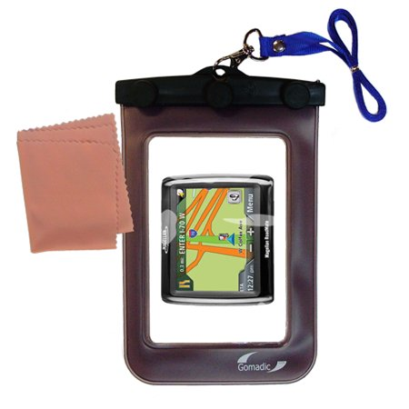 Gomadic Clean and Dry Waterproof Protective Case Suitablefor the Magellan Roadmate 1220 to use - Roadmate Case