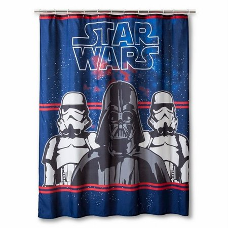 Disney star wars darth vader fabric shower curtain kids for Star material for curtains