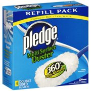 Pledge 360 Multi-Surface Duster Refill Pack, 4 Count
