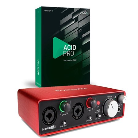 Focusrite Scarlett 2i2 (2nd Gen) With Pro Tools First and Acid Pro 9 Download Card for