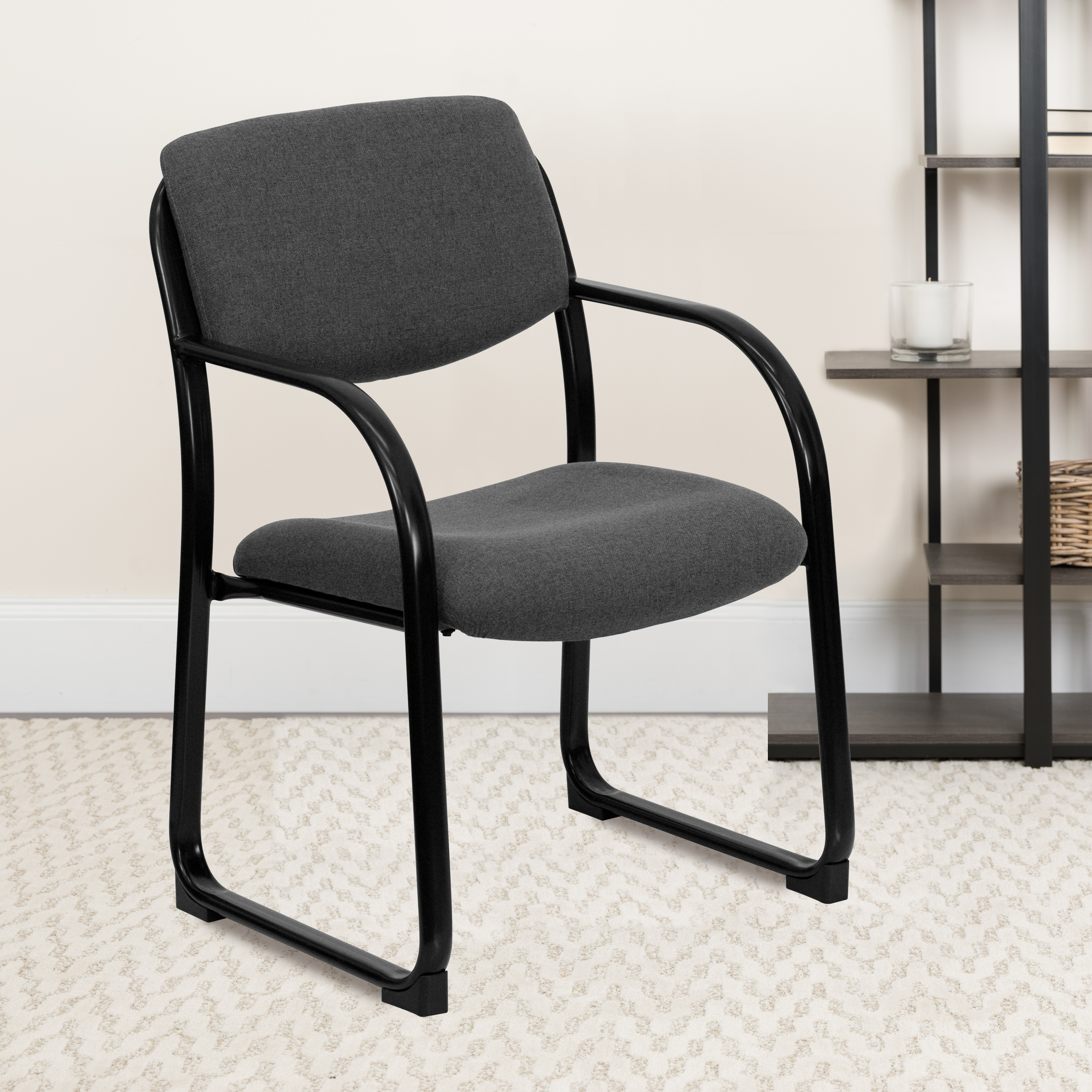 Fabric Upholstered Executive Guest and Reception Chair, Waiting Room Chair  - Walmart.com