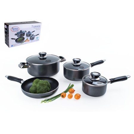Alpine cuisine 7 piece non stick cookware set for Alpine cuisine flatware
