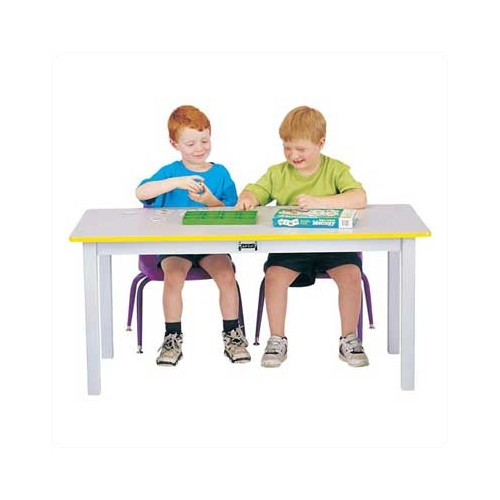 Jonti-Craft Rainbow Accents 48'' x 24'' Rectangular Activity Table