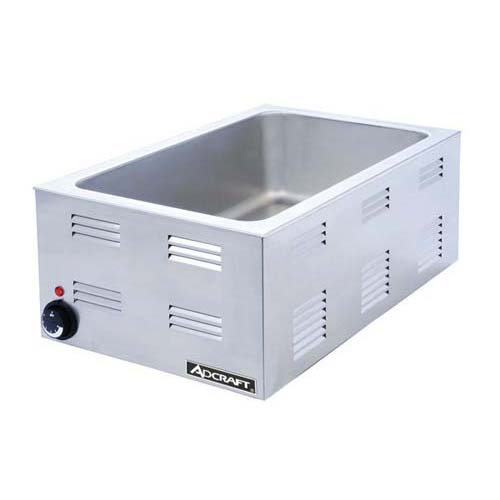 AdCraft Stainless Steel 4 3 Size Food Warmer Kitchen Restaurant FW-1500W by