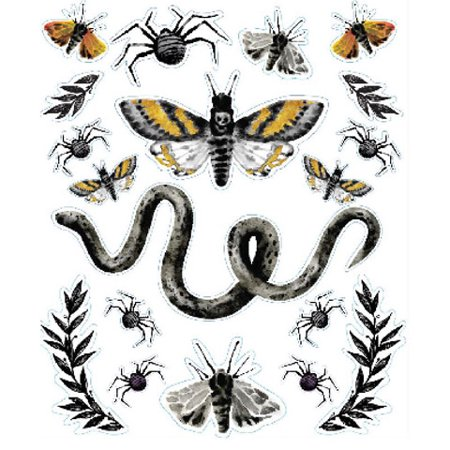 Darice Martha Stewart Crafts Halloween Embellishment Stickers Insects