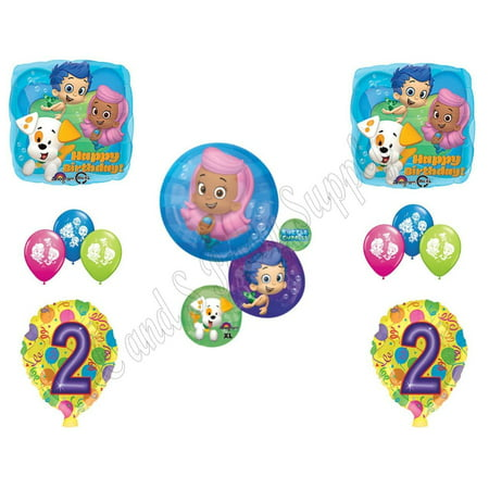 BUBBLE GUPPIES 2nd Second Birthday Party Balloons Decoration Supplies Mr. Grouper (Bubble Guppies Balloon)