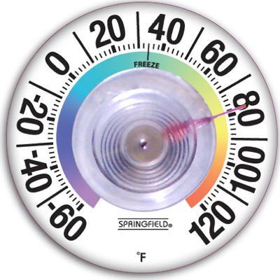 Taylor Precision Products 91903 3-1/2-Inch Suction Cup Thermometer