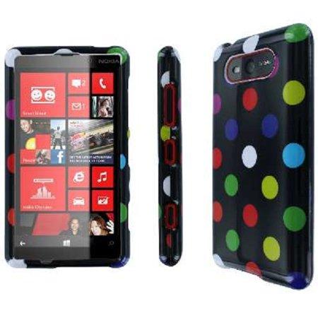 Lumia 820 Case, Empire Full Coverage Case for Nokia Lumia 820 - Rainbow Polka - Rainbow Polka Dots