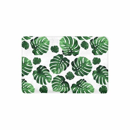 MKHERT Green Tropical Palm Monstera Leaves Hawaiian Jungle Beach Theme Doormat Rug Home Decor Floor Mat Bath Mat 23.6x15.7 inch (Hawian Theme)