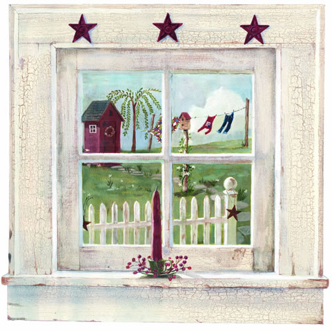 879495 Small Outhouse Window Mural