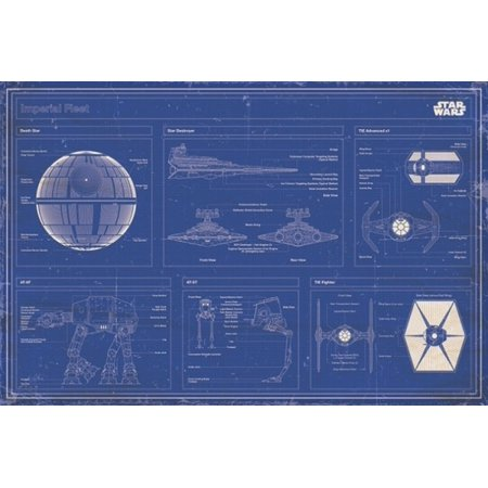 Star wars imperial fleet blueprint poster poster print by this button opens a dialog that displays additional images for this product with the option to zoom in or out malvernweather Images