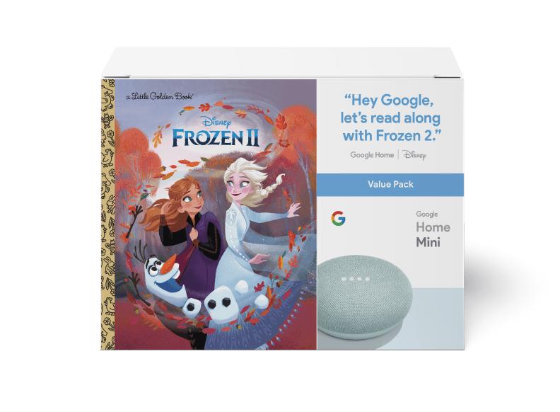 Google Home Mini (Aqua) & Frozen II Book Bundle ($5 value)