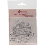 """Woodware Clear Stamps 3.5""""X3.5""""-Christmas Cake"""