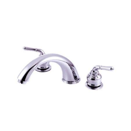 Kingston Brass Magellan Two Handle Roman Tub Faucet Brass Two Handle Tub