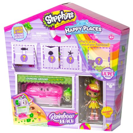 Shopkins Happy Places Rainbow Beach Furniture Set, Lounging Around - Rainbow Dash Toys