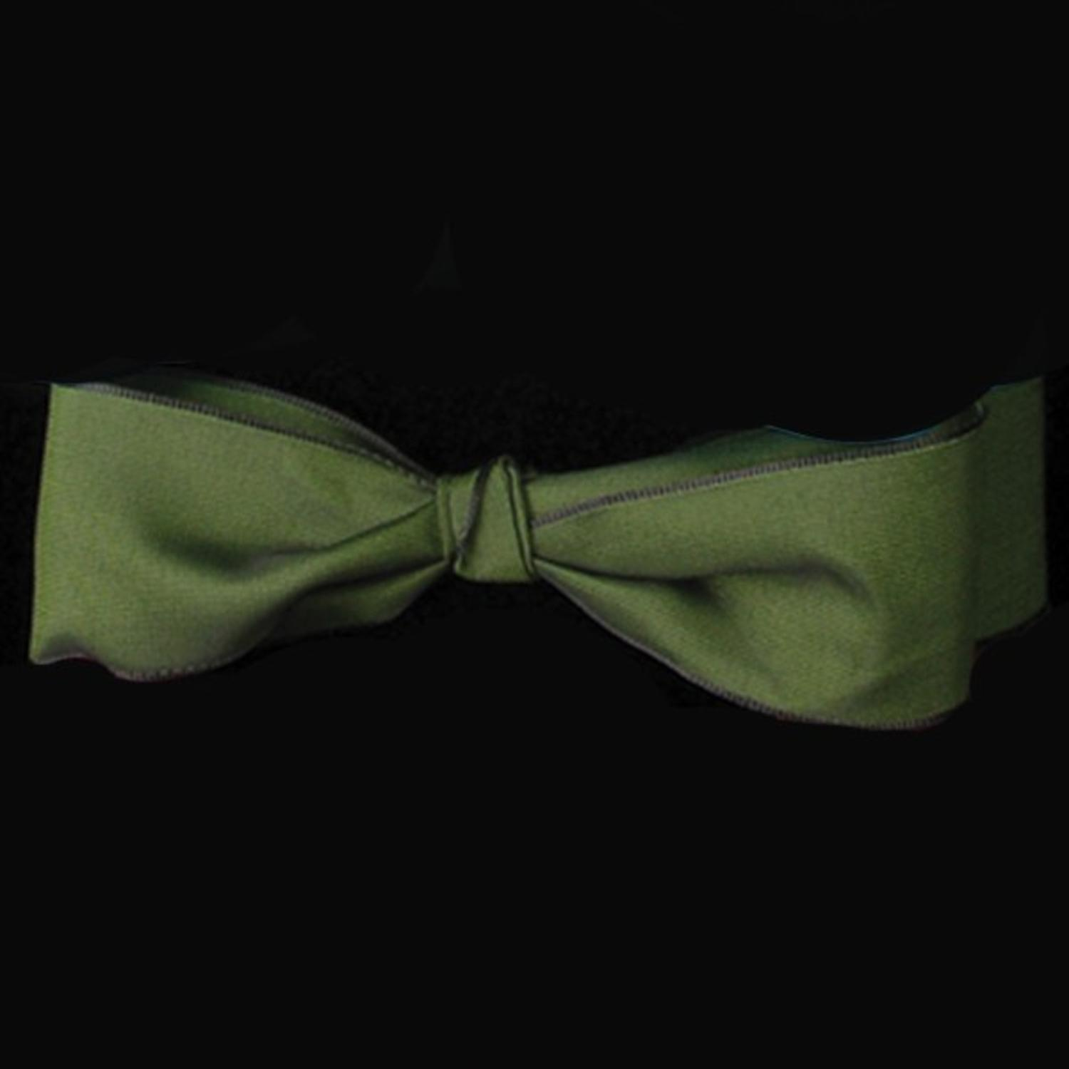 Forest Green Taffeta Wired Craft Ribbon 9.5mm x 108 Yards