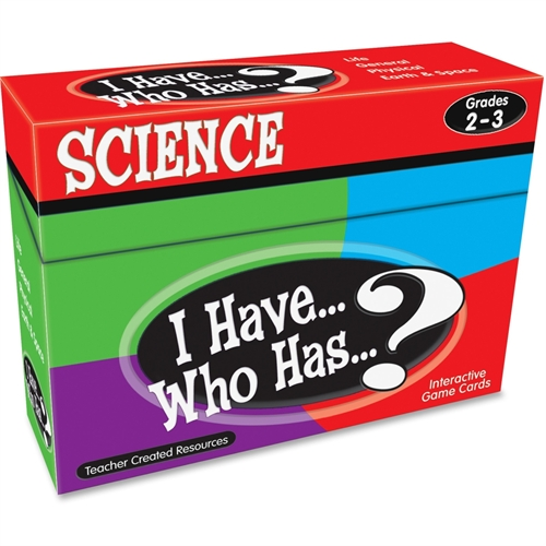 Teacher Created Resources Teacher Created Res. Gr 2-3 I Have Science Game -TCR7856
