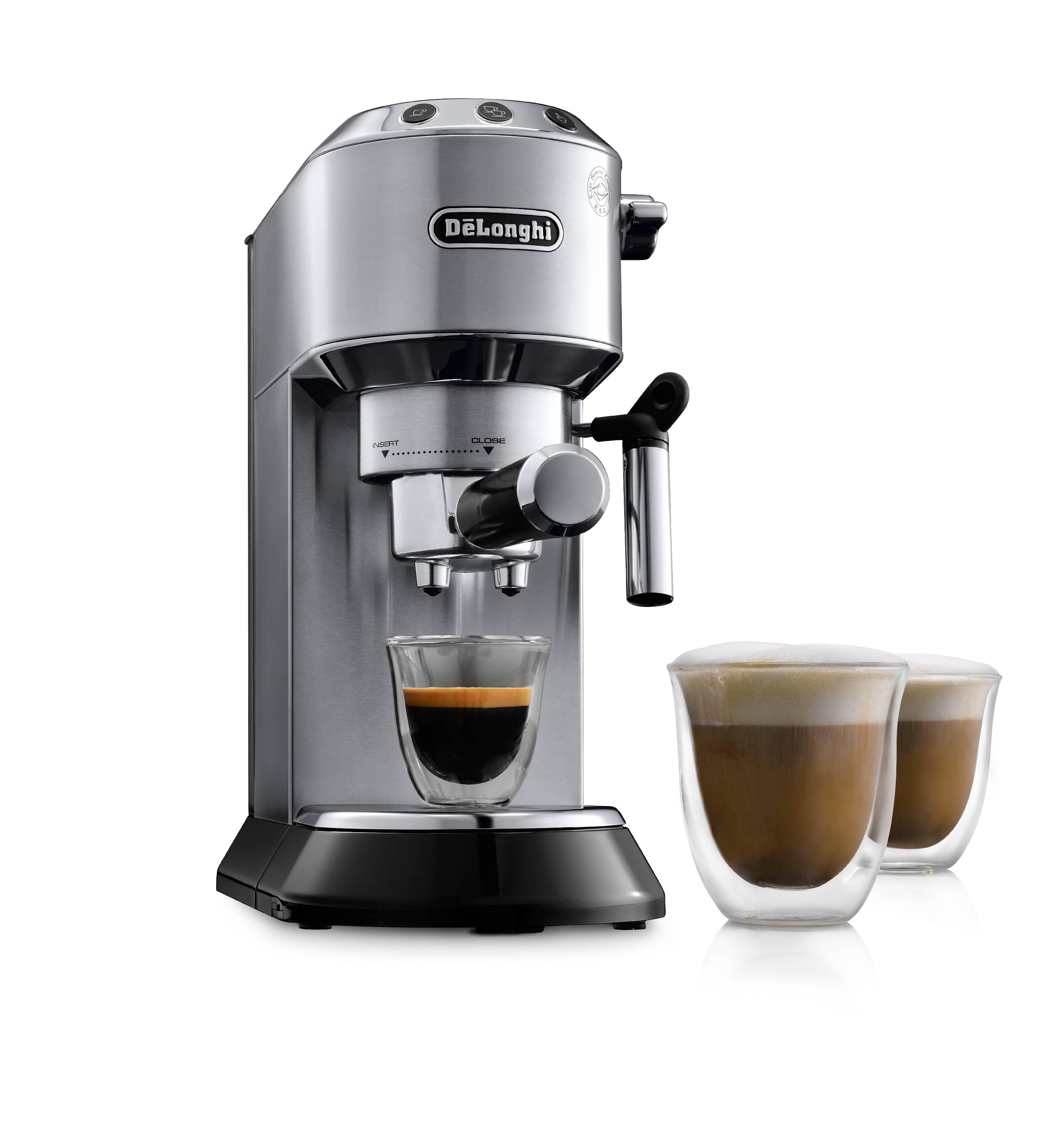 Best Espresso Machines - DeLonghi DEDICA Pump Espresso Machine - Silver EC680M Review