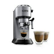 DeLonghi Dedica 15 Bar Stainless Steel Slim Espresso and Cappuccino Machine with Advanced Cappuccino System