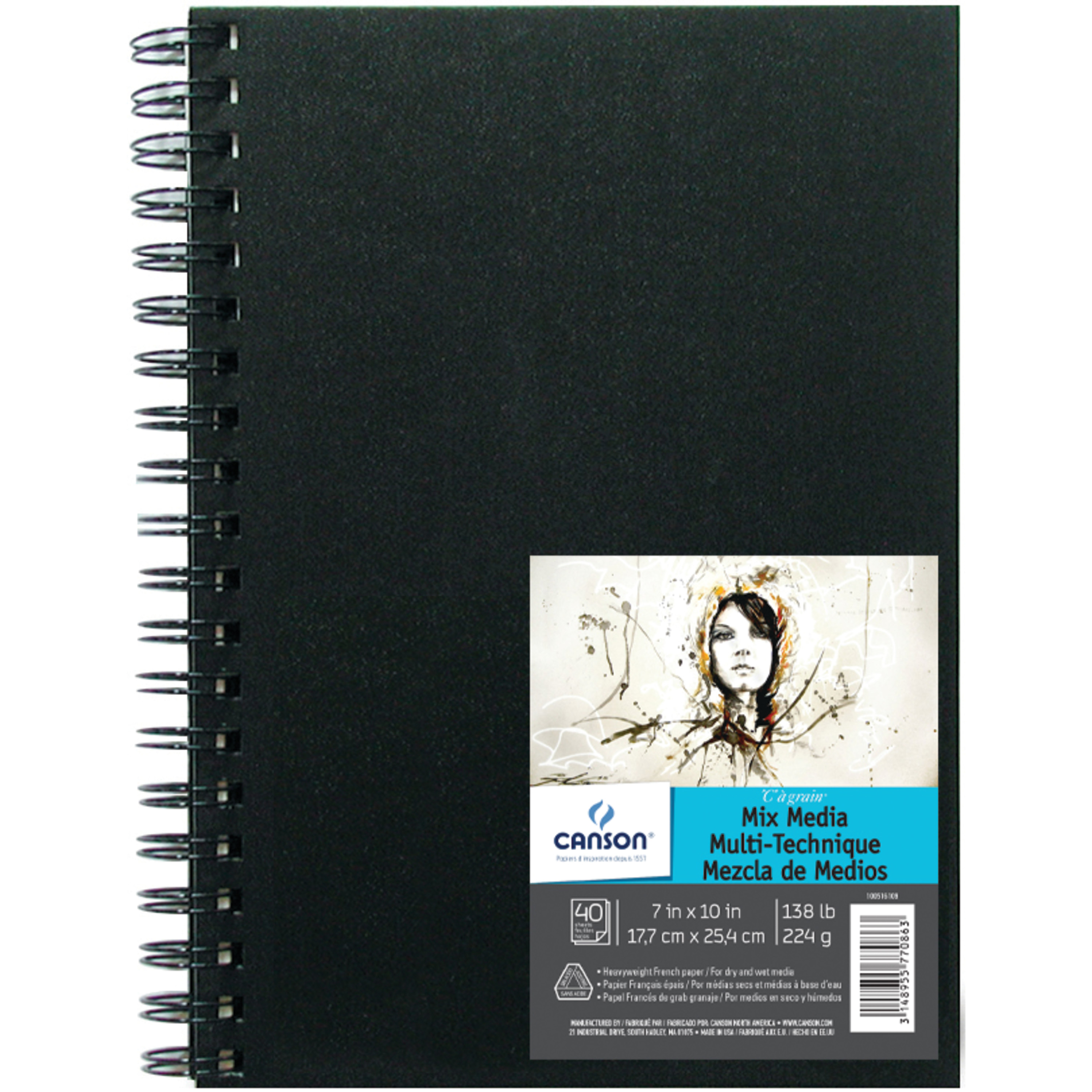 Canson Mixed Media Art Book, 7in x 10in, 40/Sheets