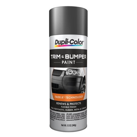 Dupli-Color Paint TB102 Dupli-Color Trim And Bumper Coating; Dark Charcoal; 11 oz. Aerosol;