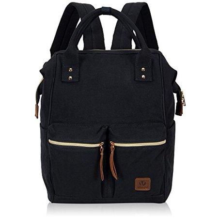 Hynes Eagle - Hynes Eagle Stylish Doctor Style Canvas School Backpack  Functional Travel Bag for Men Women - Walmart.com b4643373aefe9
