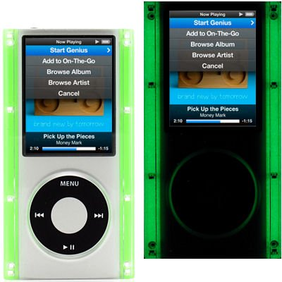 Glow In The Dark Clear Acrylic Hard Case for 4th Generation iPod Nano 4G (Green)](Glow In The Dark Green)
