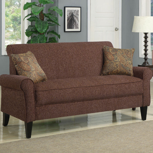 Handy Living Sofa with Paisley Pillows