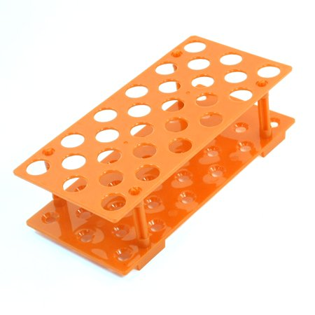 Unique Bargains Lab Orange Plastic 28 Sockets 17mm Hole Dia Test Tube Rack Holder Stand - Test Tube For Sale