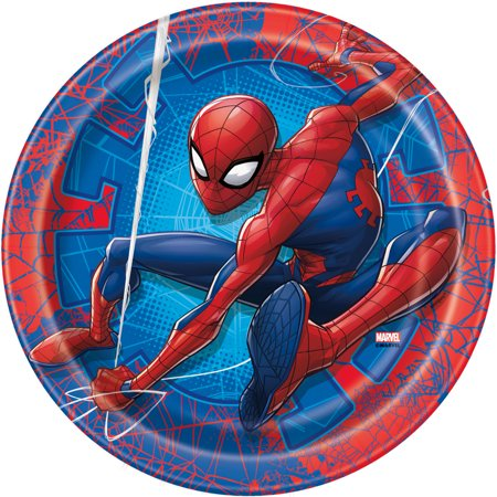 Spiderman Paper Dinner Plates, 9in, 24ct