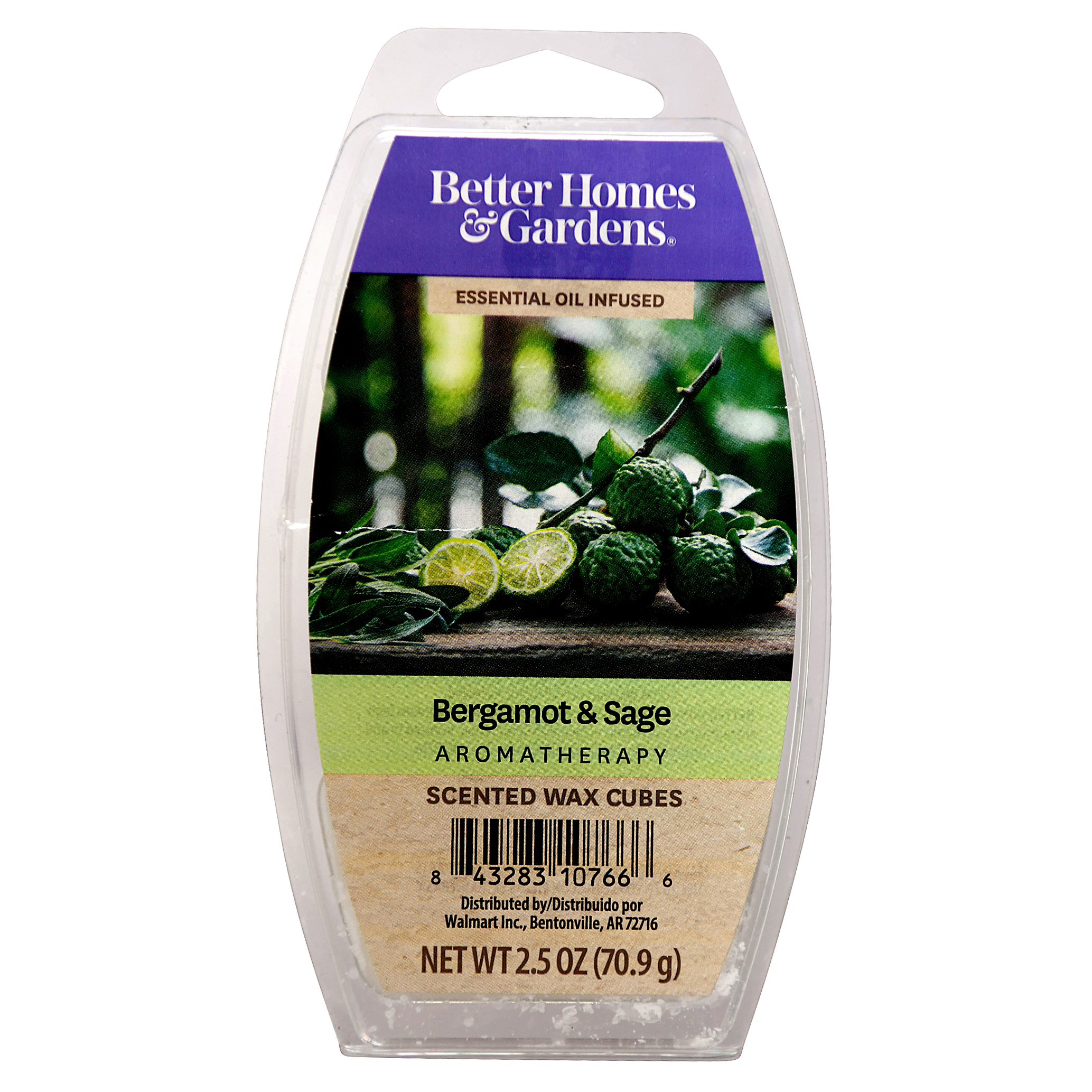 Better Homes and Gardens Scented Wax Cubes, Bergamot and Sage