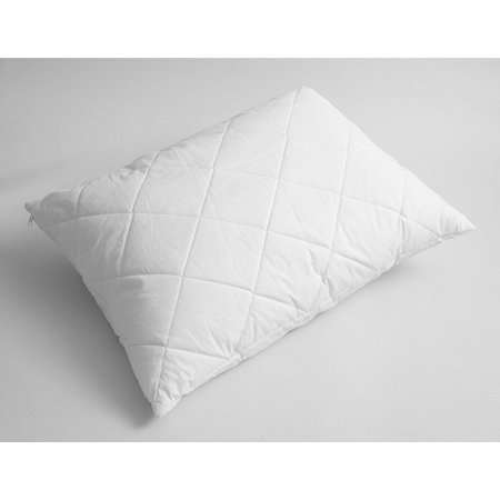 Quilted Wool Pillow (Level 3) White / Standard