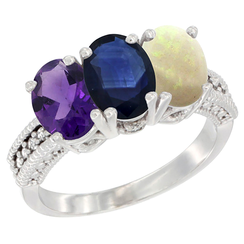 opal rings blue ring engagement lab created fancy sterling silver sapphire