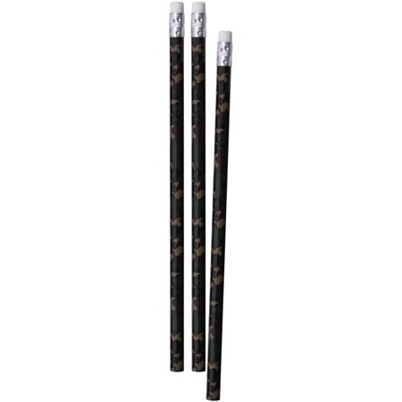 Woodland Camouflage Pencils 3-Pack