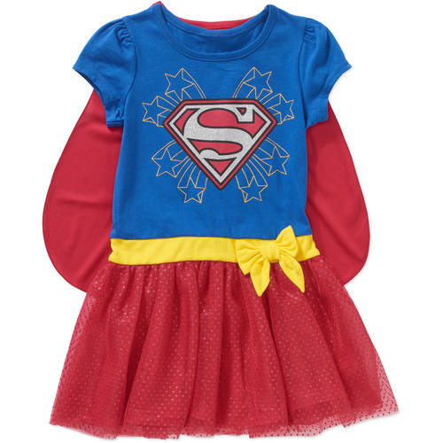 Supergirl Toddler Girls' Caped Tutu Dress